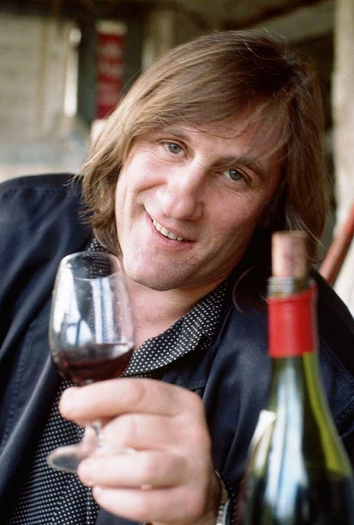 Gerard Depardieu glass of wine