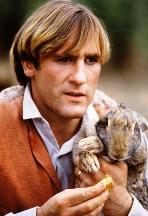 Gerard Depardieu and hare