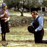 Gerard Depardieu and Elisabeth Guignot, scene from a film