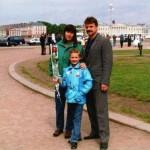 Varvara, her mother Laroisa and father Yuri Akulov, at Keiv, Ukraine