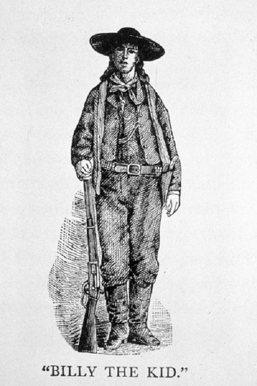 Billy the Kid. Cattle rustler, gambler, outlaw. Died in 1881, at age 21, of a bullet to the chest