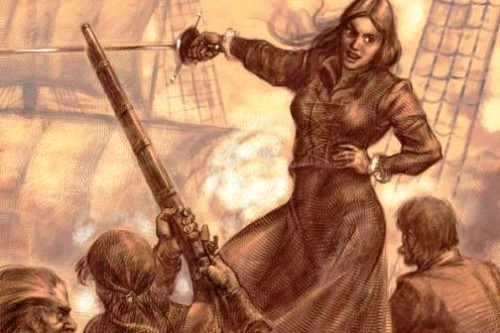 Queen of pirates Granuaile, drawing by Anton Batov