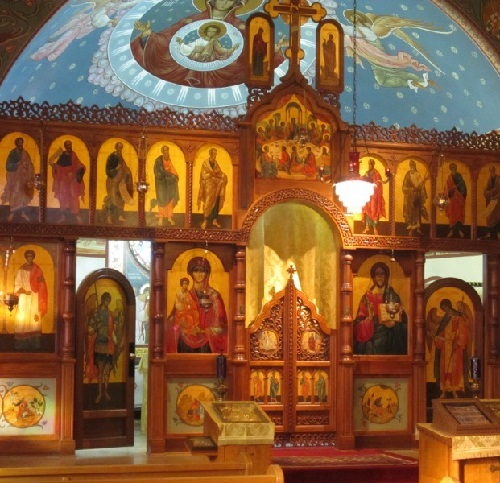 church painted by Priest