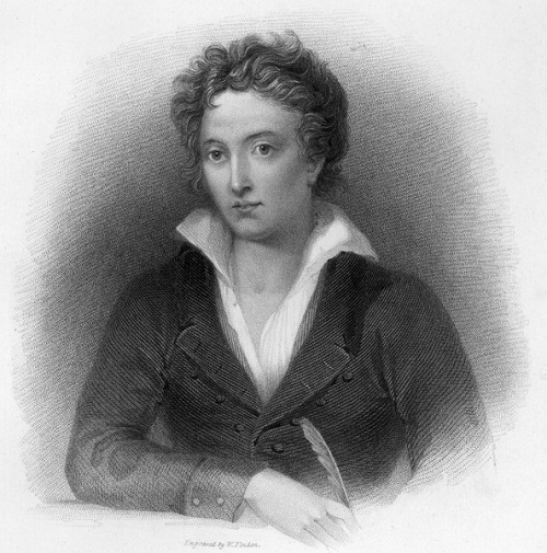 Percy Bysshe Shelley. Poet, dramatist. Died in 1822, at age 29, from drowning in boating accident
