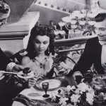 Vivian Leigh in jewelry from Joseff lunch in a scene with Clark Gable Gone With the Wind