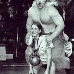 Varvara Akulova, circus perfomance with parents