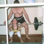 Training his daughter Yuri Akulov