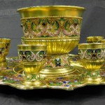 Beautiful enamel and silver antiques by Feodor Ruckert