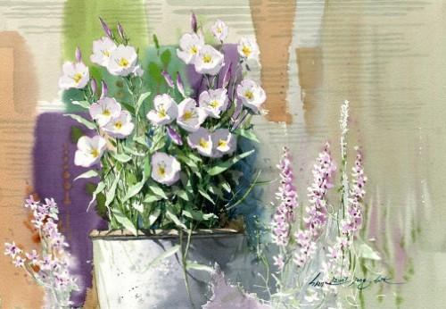 Watercolors by Korean artist Jong Sik Shin