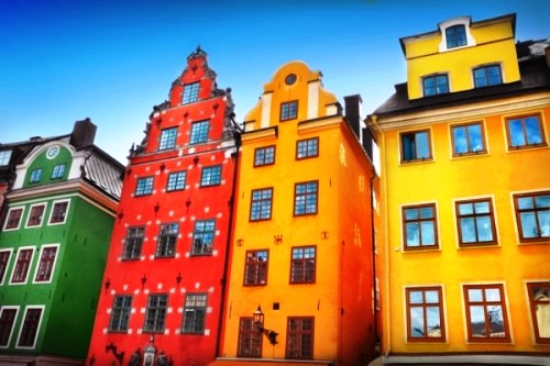 Rainbow architecture, Stockholm, Sweden