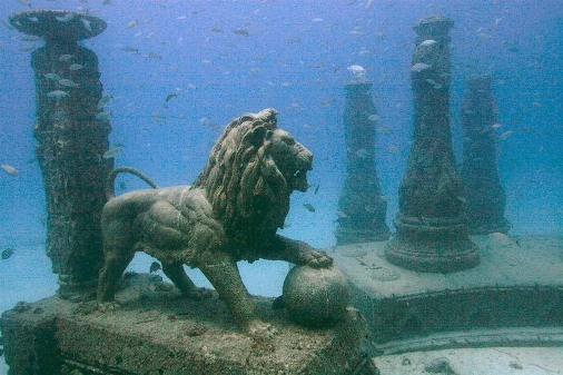 Underwater mausoleum of cremated remains Neptune Memorial