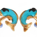 Cufflinks by Michael Kanners, 18K yellow gold, turquoise, onyx