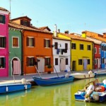 The island of Burano, Venice, Italy