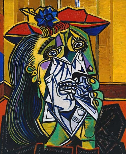 'Weeping Woman' by Pablo Picasso, 1937. Model Dora Maar.