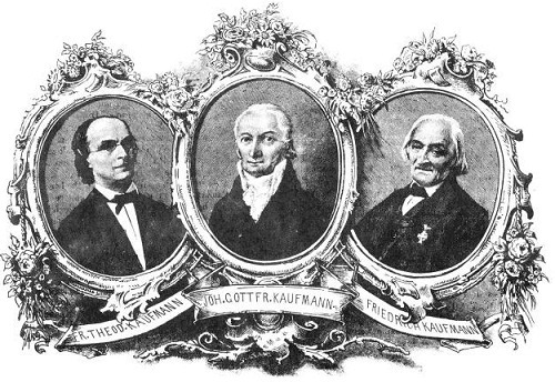The Kaufmann family, Friedrich is on the right