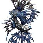 Stephen Webster Jewels, Verne Titanium, Fighting Fish Brooch