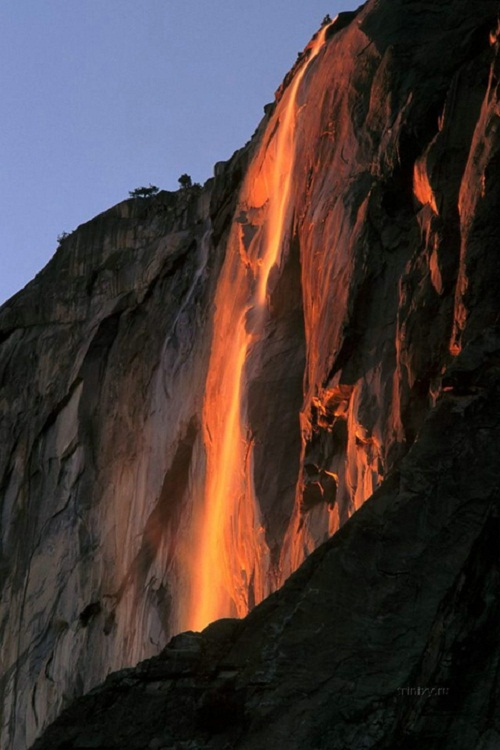 Beautiful Yosemite Horsetail Fall