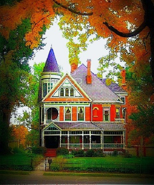 Autumn -Victorian House, Crawfordsville, Indiana