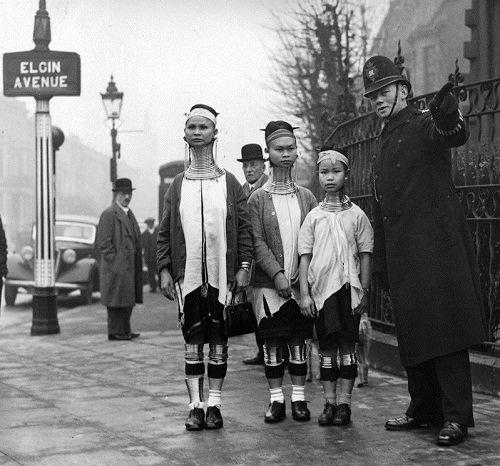Burmese beauties visiting London 1935