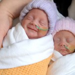 Elizaveta and Alexandra, the first two of the quins able to leave their incubators