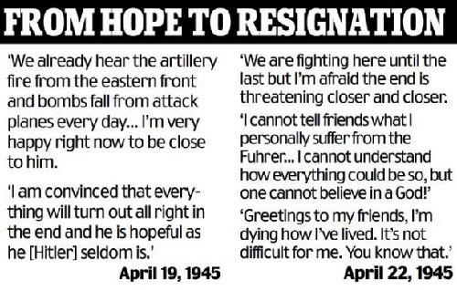 Last letters of Eva Braun