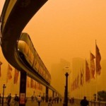 January 10, 2013, a dust storm covered Onslow, Australia. The hellish dust storm caused a 'red wave' of sand off the coast of Western Australia on Wednesday