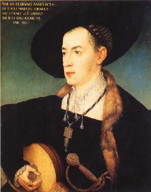 Portrait of Matthäus Schwarz by Hans Maler zu Schwaz, 1526, Musée du Louvre