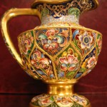 Russian Gilded Silver and shaded enamel creamer, Feodor Ruckert, Moscow, circa 1900