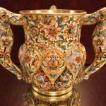 Silver Enamel Three-Handled Cup, master Feodor Ruckert