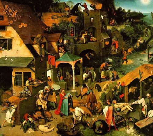 Nederlandse Spreekwoorden - Proverbial painting of Pieter Brueghel the Elder