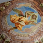 Monastery Ossiach - Celling-painting: Painted Dome with Angel with the Veil of Veronica - Painter: Josef Ferdinand Fromiller