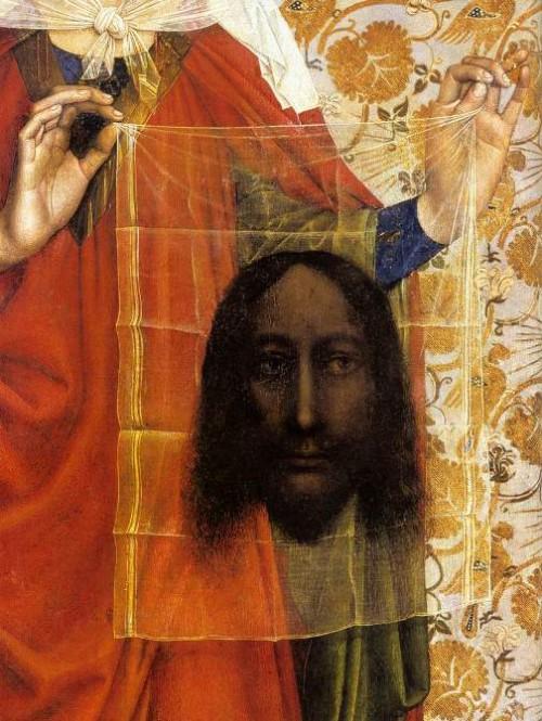 Santa Verónica (detalle) por el Maestro de Flémalle