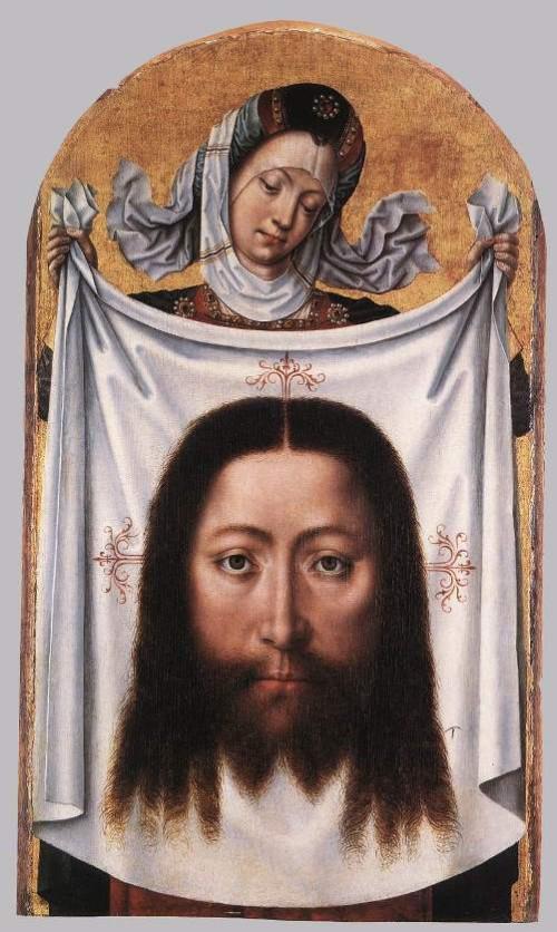 Secretos del Velo de la Verónica. Milagrosa  Santa Verónica con el Sudario por el Maestro de Santa Úrsula Leyenda c 1475-1500