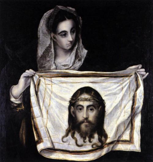 Secretos del Velo de la Verónica. Milagrosa  Santa Verónica Con El Sudary 1579 de El Greco