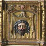 18th century tabernacle depicting the Holy Face of Christ