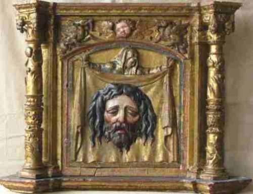 Secretos del Velo de la Verónica. Milagrosa  Tabernáculo del siglo 18 que representa a la Santa Faz de Cristo