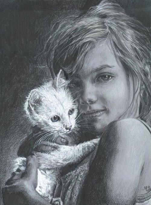 Nostalgic drawings by Maria Zeldis