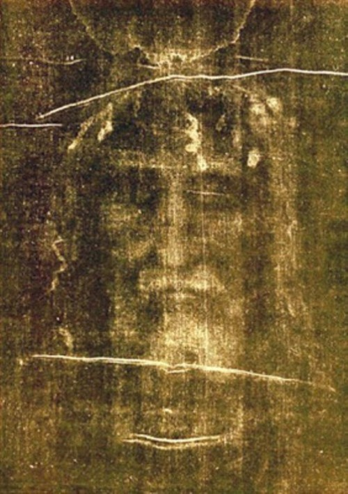 Secrets of the miraculous Veil of Veronica. The Shroud of Turin, Sindone di Torino - a length of linen cloth bearing the image of Christ