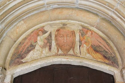 Secretos del Velo de la Verónica. Milagrosa  Iglesia parroquial de Zweinitz en la comunidad de Weitensfeld - Tímpano