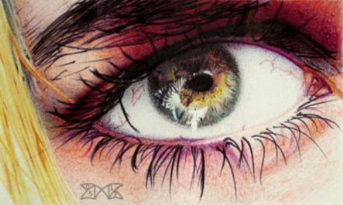 Bye (Biro eye) by French artist Cloudmilk