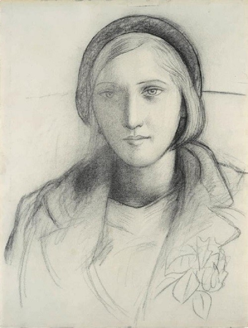 Marie-Therese Walter and Picasso, sketch by Pablo Picasso, 1927