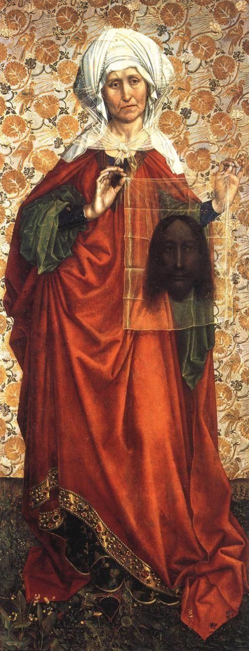 Robert Campin (1375-1379-1444) Santa Verónica.  Fecha 1410