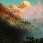 Sunrise. Russian landscape painter Arkhip Kuindzhi