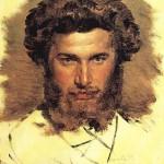 Viktor Vasnetsov. Portrait of artist Arkhip Kuindzhi. 1869