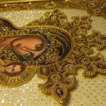 Fragment of icon by Ukrainian artist Angelica Artyomenko
