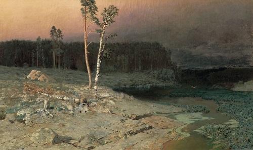 Russian landscape painter Arkhip Kuindzhi on the island of Valaam