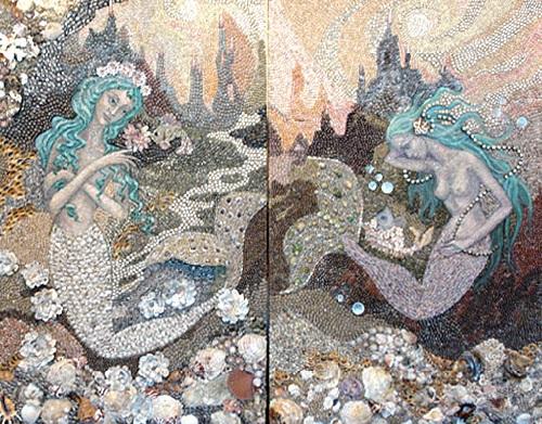 Seashell mosaics by marina alexandrova beauty will save for Seashell mosaic art