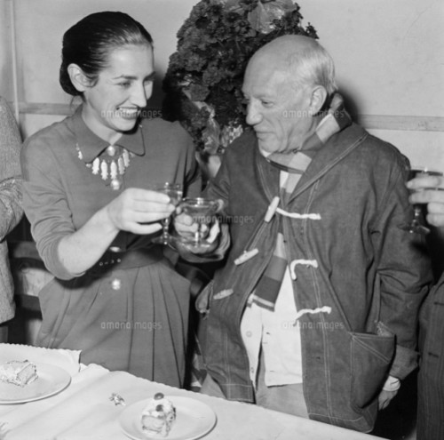 Francoise Gilot and Pablo Picasso, Vallauris, France