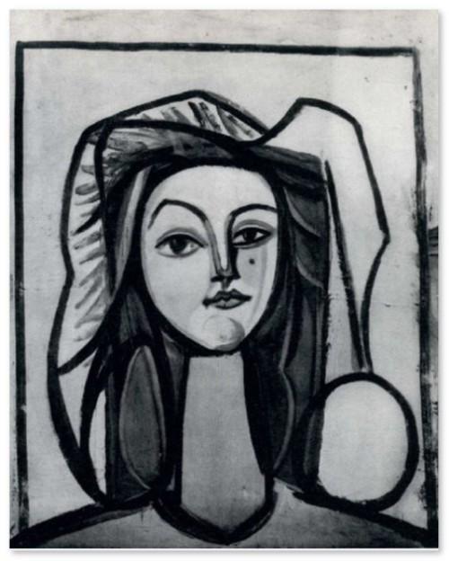 Head of a woman. Francoise Gilot. 1946
