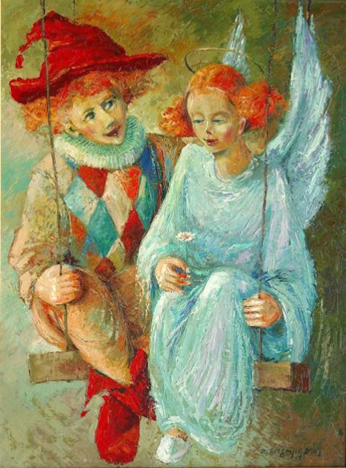 Painting by Georgian artist Tamaz Gogoladze